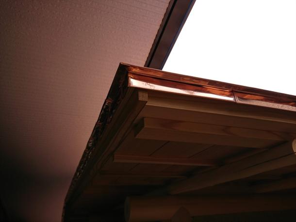 屋根、銅板葺、仕舞