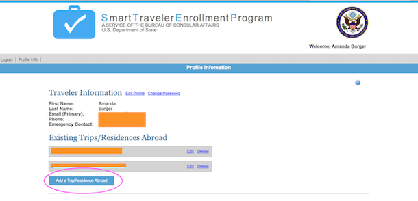 smart traveler enrollment program for us citizens traveling abroad