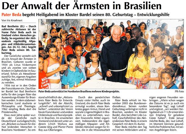 Aus dem Emsland-Kurier vom 21.12.2014