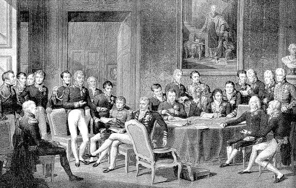 """""""Congresso di Vienna"""". Lizenziert unter Gemeinfrei"""