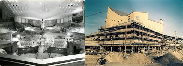 Die Philharmonie im Bau (alle Fotos: © Reinhard Friedrich/Stiftung Berliner Philharmoniker)