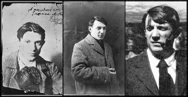 Alle drei Picasso-Portraits lizensiert unter Gemeinfrei