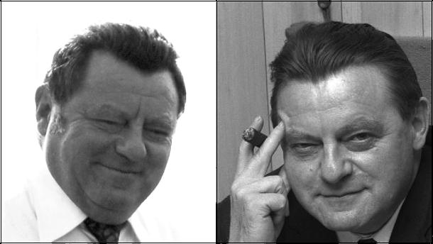 "Links: Franz Josef Strauß ArM"". Lizenziert unter CC BY-SA 3.0. Rechts: Bundesarchiv, B 145 Bild-F023363-0016 / Gathmann, Jens / CC-BY-SA 3.0"