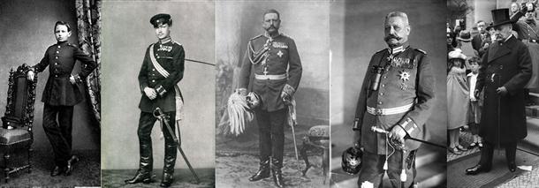 Paul von Hindenburg: Stationen eines Soldatenlebens (Lizenzen: alle gemeinfrei)