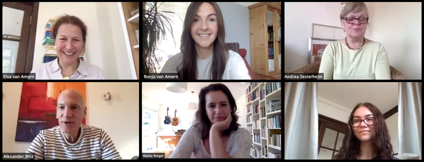 Tyll Blaha-van Amern, Elsa van Amern, Annemieke Strecker vom Institut IMAP