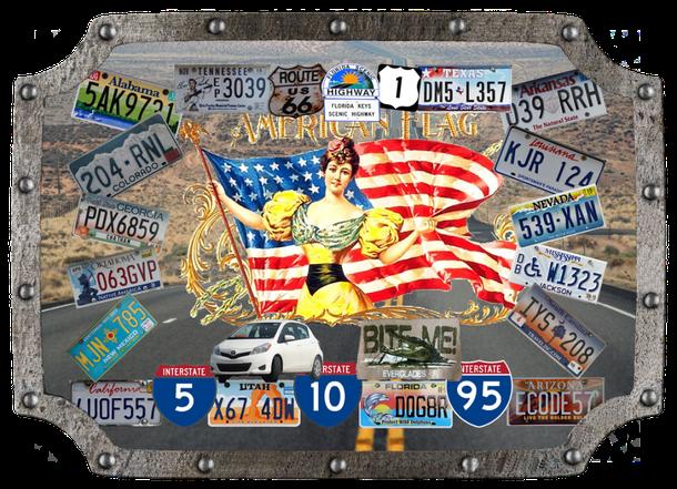 Autokennzeichen der 16 Bundesstaaten, die wichtigsten Road´s, Regionen und unser treuer Toyota!