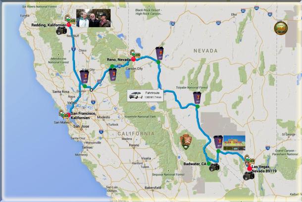 Wiedersehen mit CS Freunden in Redding - Schnee, Sierra Nevada ...