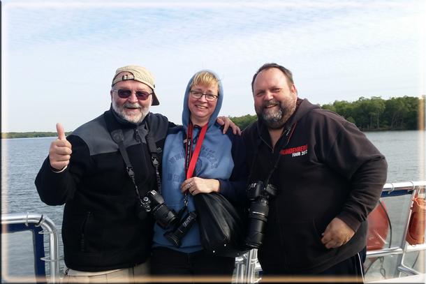 Wir, das sind hier von rechts nach links: Udo, Annett und Andreas in den Everglades von Florida!
