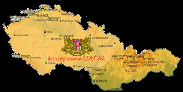 An all diesen Orten, die auf der CSSR Karte eingetragen sind befand ich mich ein oder mehrere Male. Vor allem im Nordböhmischen Raum, im Böhmer Wald, in Südmähren an der Thaya bei Břeclav (Lundenburg), in der Hohen Tatra und im Slowakischen Paradies!