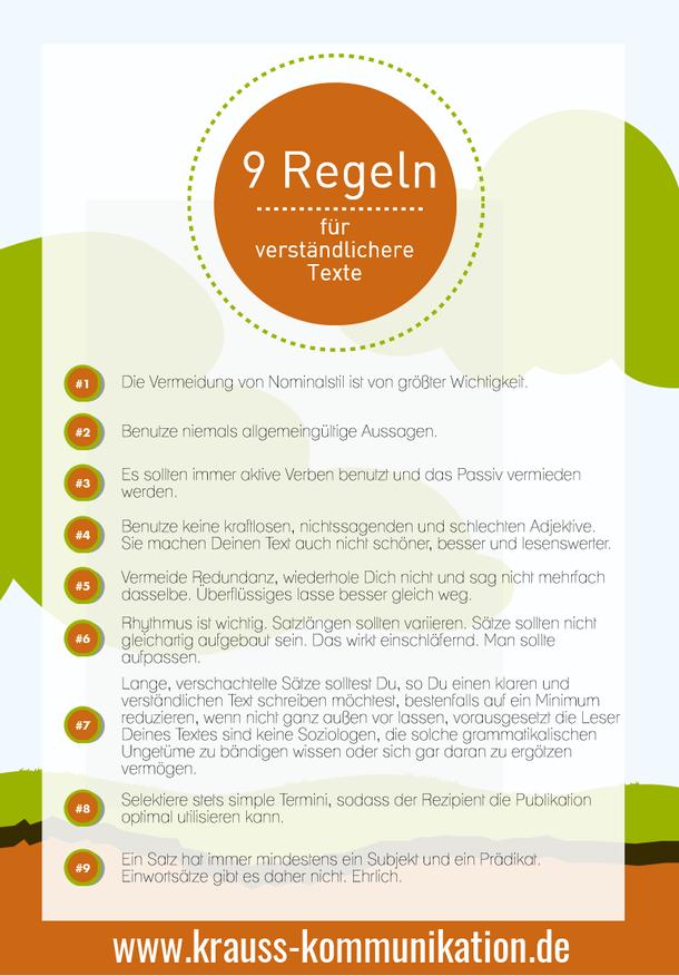 Infografik verständliche Texte