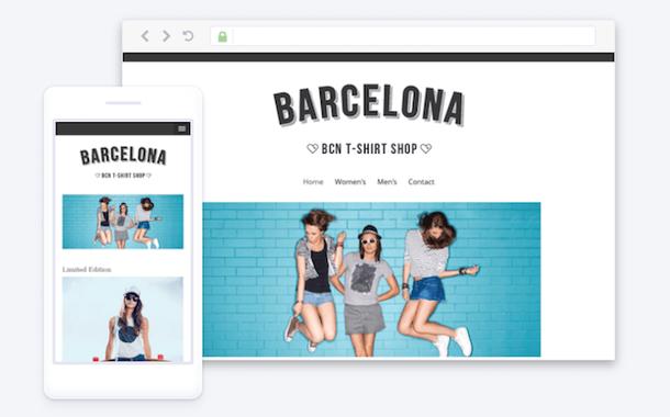 Пример сайта, сделанного на JIMDO. Template: Barcelona