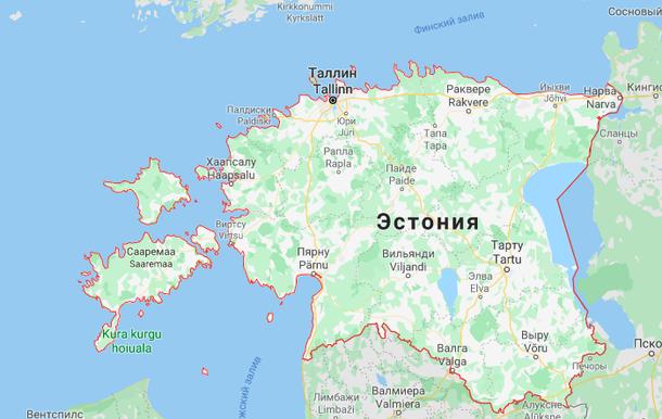 The map of estonia