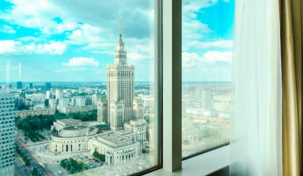 Вид из отеля Мариотт на Варшаву