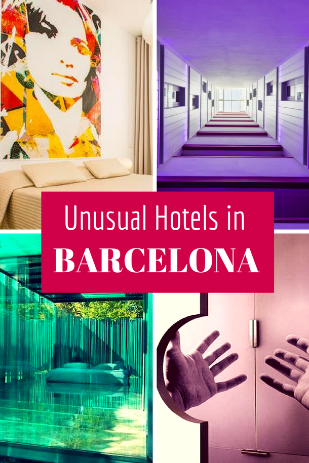 Unusual Hotels in Barcelona: cool, quirky, concept and designer places to stay in Barcelona