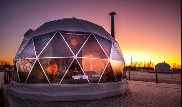 Необычное место для ночевки в Исландии:кемпинг-отель