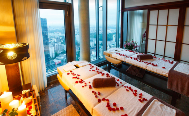 spa with a view in the InterContinental Hotel in Warsaw