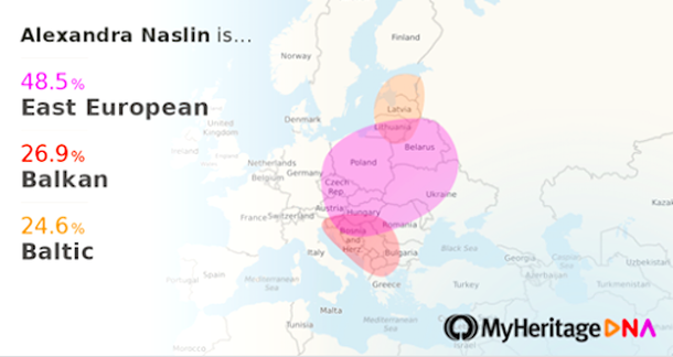 MyHeritage DNA results