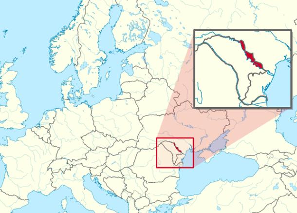 Pridnestrovie - Transnistria on the map