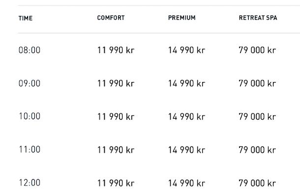 Цена на билет в Голубую Лагуну в Исландии