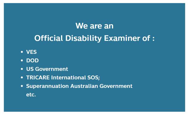 Official Disability Examiner - für Thailand und starke Opiate