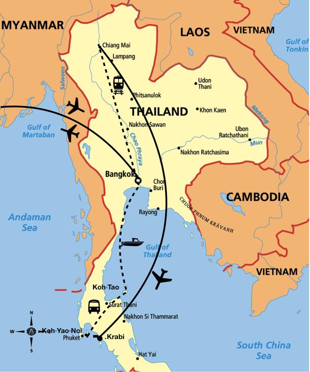 Thailand 2 wochen wohin