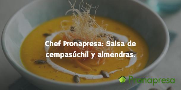 Chef Pronapresa : Salsa de cempasúchil y almendra
