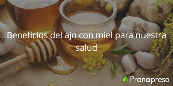 Beneficios del ajo con miel para nuestra salud