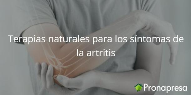 Terapias naturales para los síntomas de la artritis