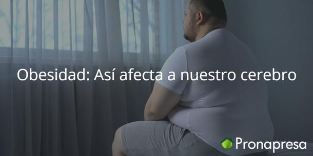 Obesidad: Así afecta a nuestro cerebro