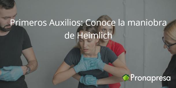 Primeros Auxilios: Conoce la maniobra de Heimlich