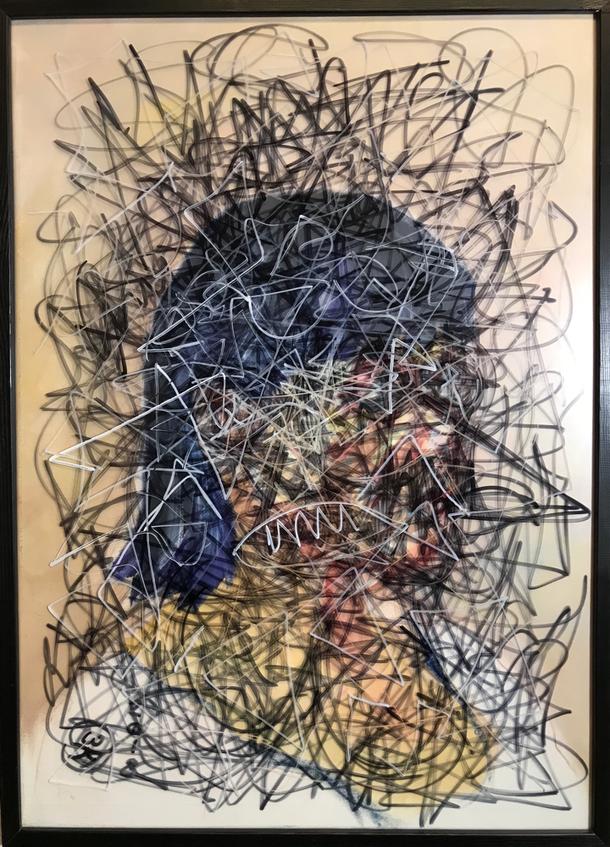 After a long call, Oil / Acrylic on canvas / 70 x 50 cm