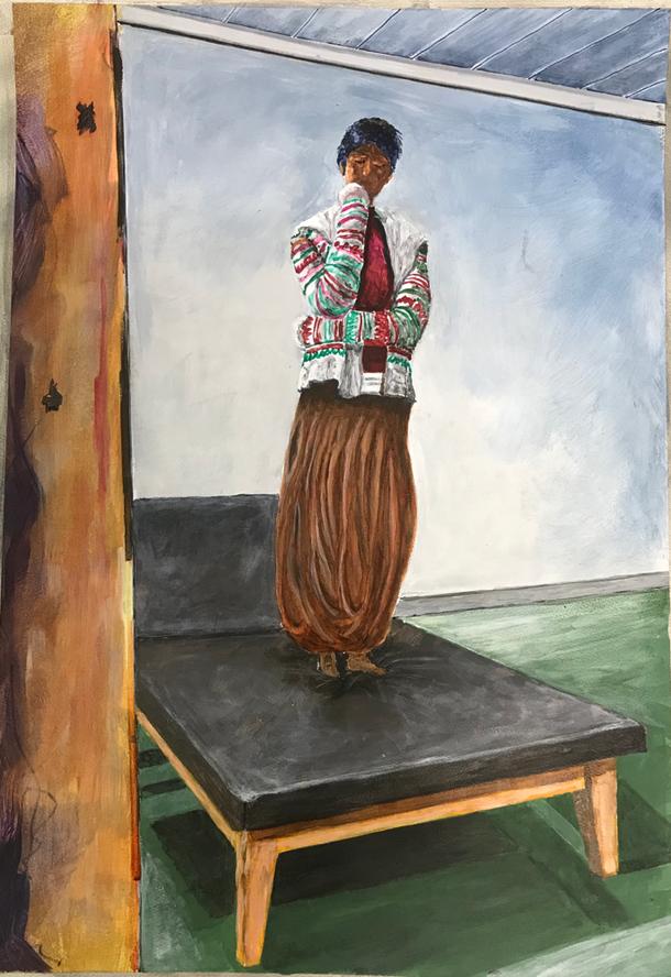 OT , Acrylic on paper / 59,4 x 42 cm