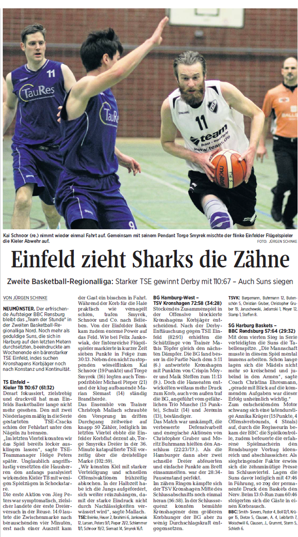 5. Spieltag 2016/2017, Kieler Nachrichten