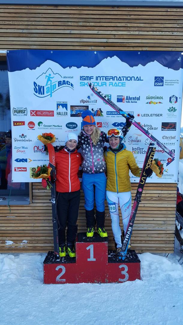 Skialprace Ahrntal 2017: 1. Martina Valmassoi, 2. Bianca Balzarini, 3. Birgit Stuffer