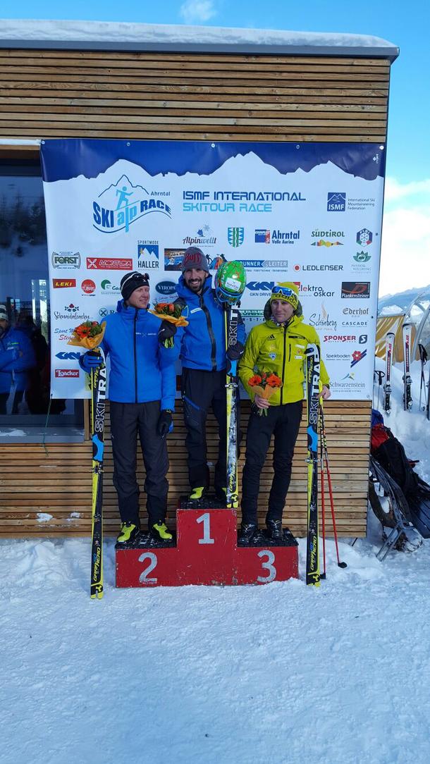 Skialprace Ahrntal 2017: 1. Robert Antonioli, 2. Manfred Reichegger, 3. Martin Weißkopf