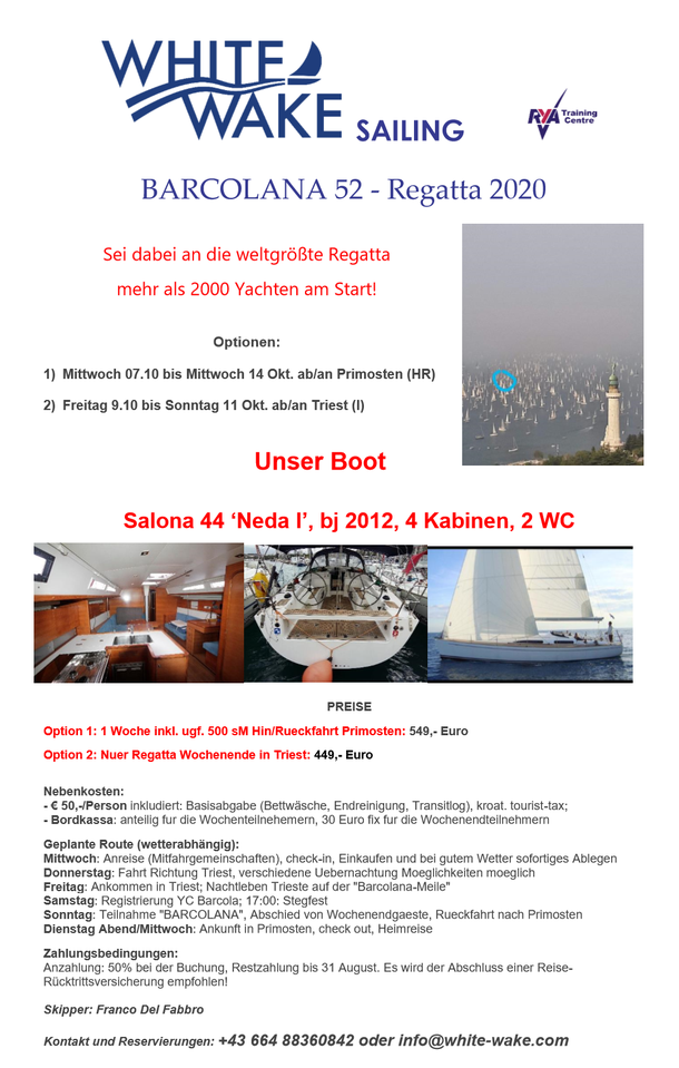Barcolana 52 - White Wake Sailing
