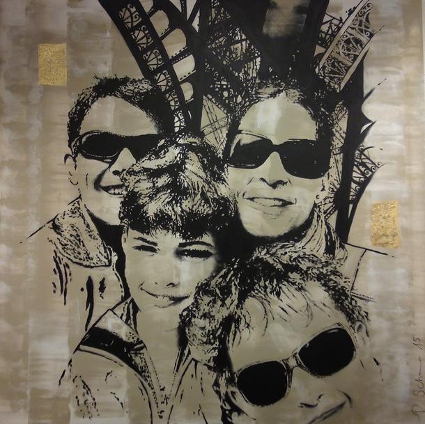 Selfie Familienportrait Auftragsarbeit von Daniela Schorno