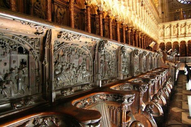 Хор собора. Кафедральный собор в Толедо