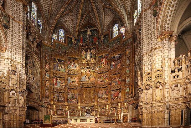 Главный алтарь. Кафедральный собор в Толедо