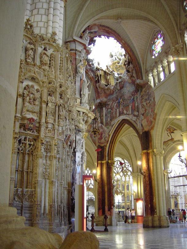 Прозрачный алтарь. Кафедральный собор Толедо