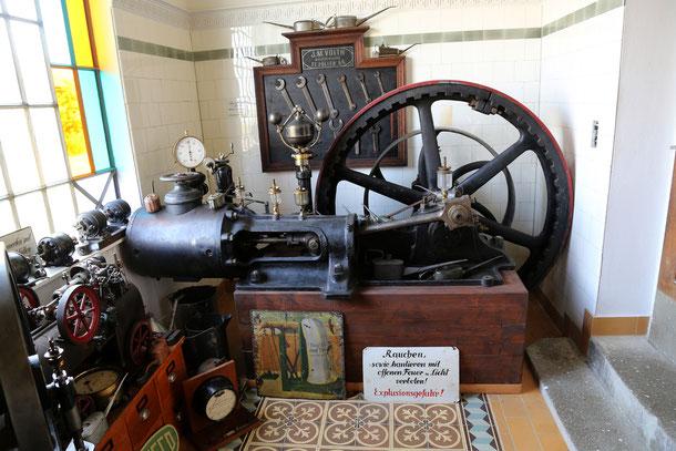 Dampfmaschine 20 PS Baujahr 1907.