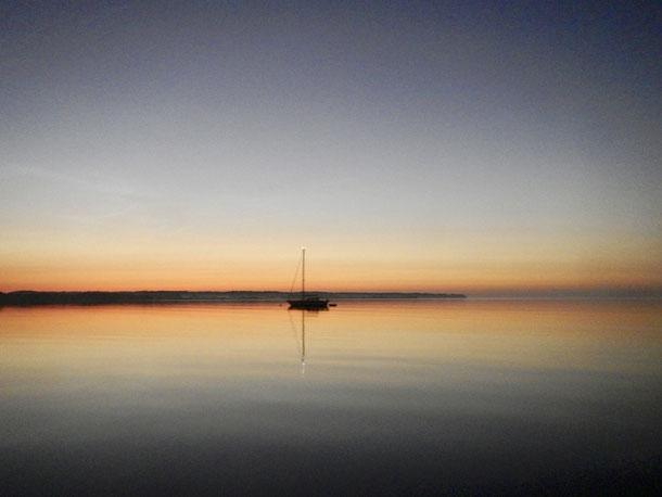 Morgendämmerung in der Sandbjerg Vig- 04:00 Uhr