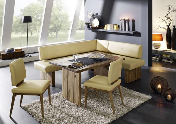 Eckbänke aus Leder und Kunstleder - Naturnah Möbel ...