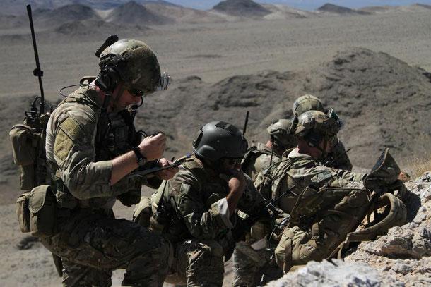 JTAC (Joint Terminal Attack Controller) - controllori dell'attacco aereo dell' US. Army in azione