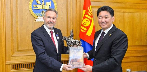Prime Minister U.Khurelsukh & Wolfgang Heichel