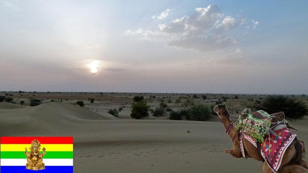 Zwei Dritteln der Wüste, liegen in Rajasthan, die Gesamtgröße der Thar bedeckt ein Gebiet von ca.238.700 km², mit weiteren Dornensträuchergebieten nochmals 488.300 km²