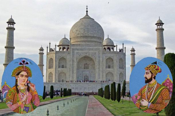 Der Großmogul Shah Jahan ließ das Mausoleum zum Gedenken an seine im Jahre 1631 verstorbene Hauptfrau Mumtaz Mahal (Arjumand Bano Begum) erbauen.