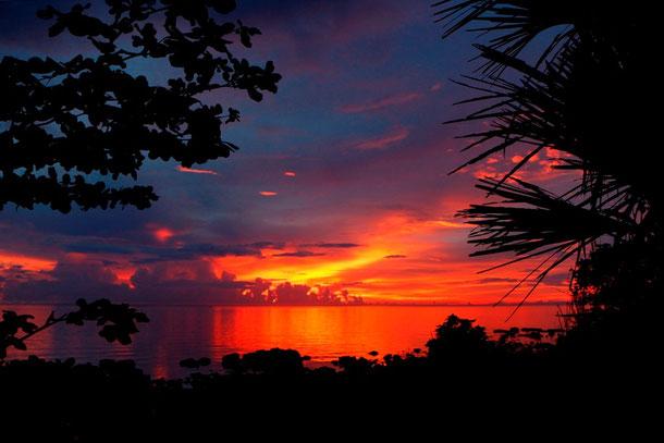 Sunset - Blickrichtung Sulu See nahe Siaton von der Südspitze der Provinz Negros Oriental aus