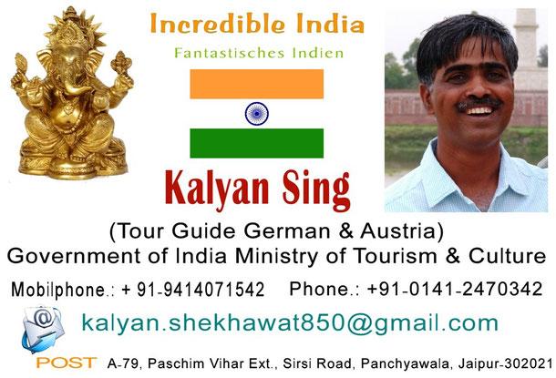 Visitenkarte von Herrn Kalyan Sing