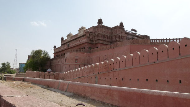 Fort Junagarh, der Stadtpalast von Bikaner  ist einer der best erhaltendsten Rajputen-Paläste Indiens